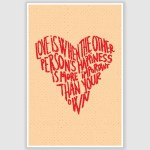 Love is When Poster (12 x 18 inch)