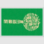 People Who Judge Everyone Inspirational Poster (12 x 18 inch)