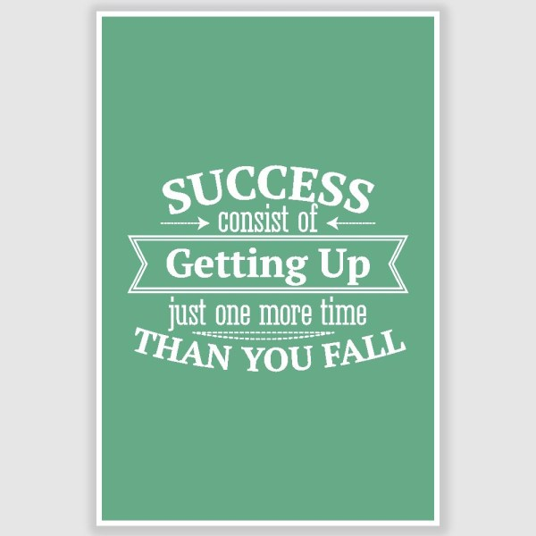Success Inspirational Poster (12 x 18 inch)