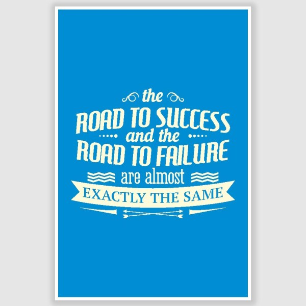 The Road To Success Inspirational Poster (12 x 18 inch)