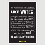 Bruce Lee - Be Like Water Inspirational Poster (12 x 18 inch)