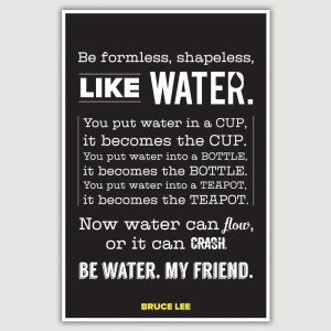 Bruce Lee – Be Like Water Inspirational Poster (12 x 18 inch)