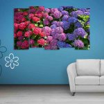 Multiple Frames Colorful Flower Wall Painting (150cm X 76cm)