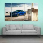 Multiple Frames Ford Mustang Wall Painting (150cm X 76cm)