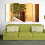 Multiple Frames Lord Ganesha Beautiful Wall Painting (150cm X 76cm)