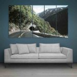 Multiple Frames Tunnel In Mountains Wall Painting (150cm X 76cm)