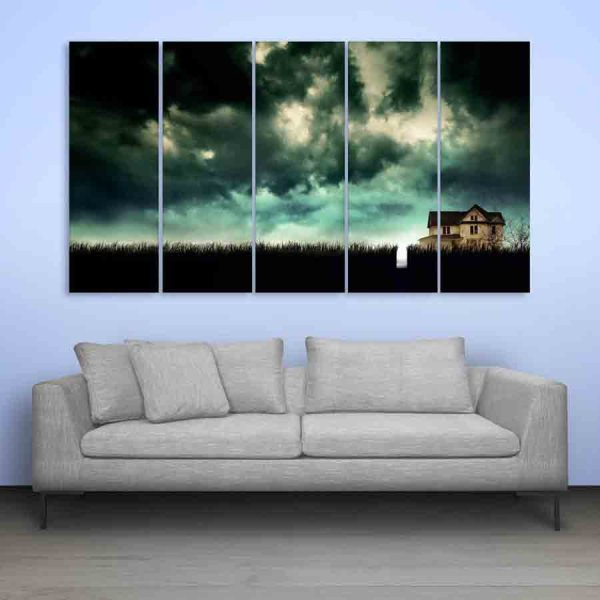 Multiple Frames Beautiful Natural Scenery Wall Painting (150cm X 76cm)