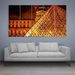 Multiple Frames Italy Wall Painting (150cm X 76cm)