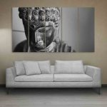 Multiple Frames Buddha Beautiful Wall Painting (150cm X 76cm)