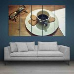 Multiple Frames Tea Cup Wall Painting (150cm X 76cm)