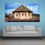 Multiple Frames Beautiful Tower Wall Painting (150cm X 76cm)
