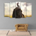 Multiple Frames Beautiful Wolf Wall Painting (150cm X 76cm)
