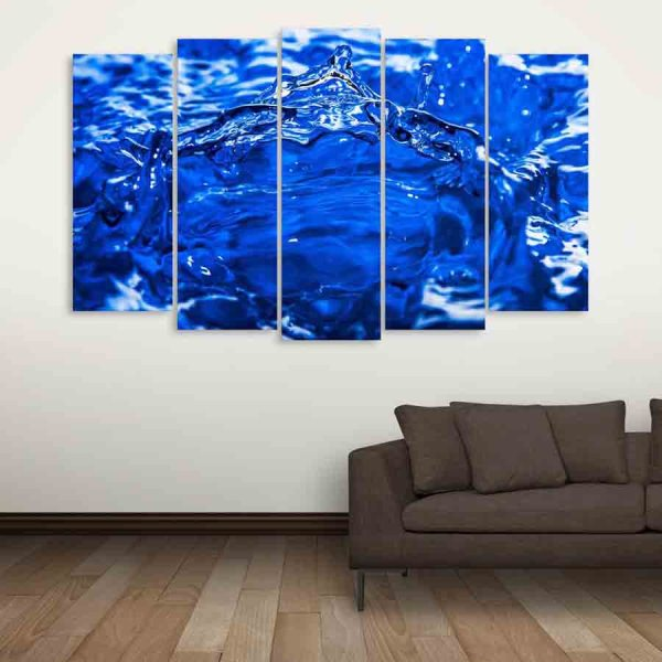 Multiple Frames Blue Water Wall Painting (150cm X 76cm)