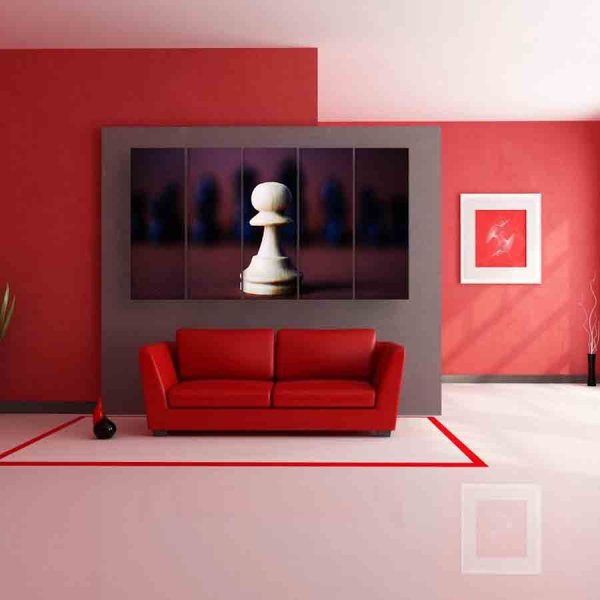 Multiple Frames Chess Wall Painting (150cm X 76cm)