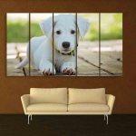 Multiple Frames Cute Dog Wall Painting (150cm X 76cm)