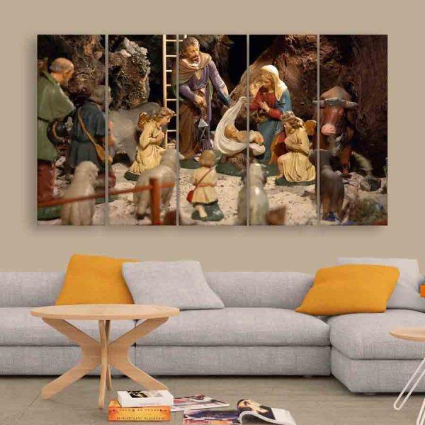 Multiple Frames Christmas Wall Painting (150cm X 76cm)