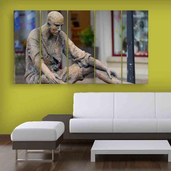Multiple Frames Beautiful Sculpture Wall Painting (150cm X 76cm)