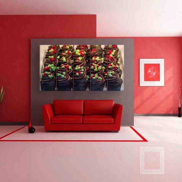 Multiple Frames Chocolate Wall Painting (150cm X 76cm)