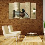 Multiple Frames Duck Wall Painting (150cm X 76cm)