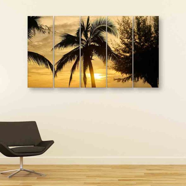 Multiple Frames Nature Wall Painting (150cm X 76cm)