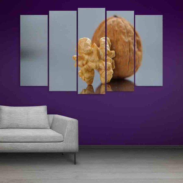 Multiple Frames Walnut Wall Painting (150cm X 76cm)