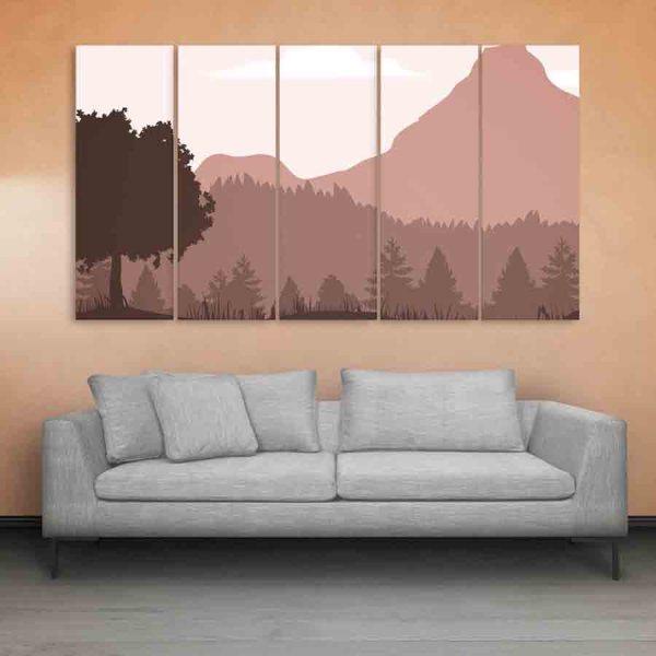 Multiple Frames Landscape Wall Painting (150cm X 76cm)