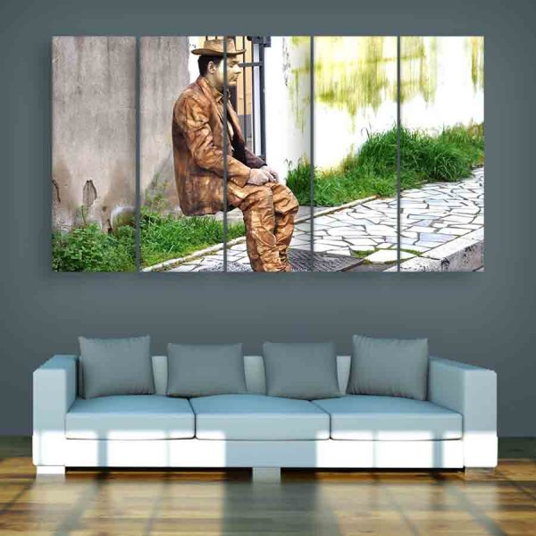 Multiple Frames Statue Wall Painting (150cm X 76cm)