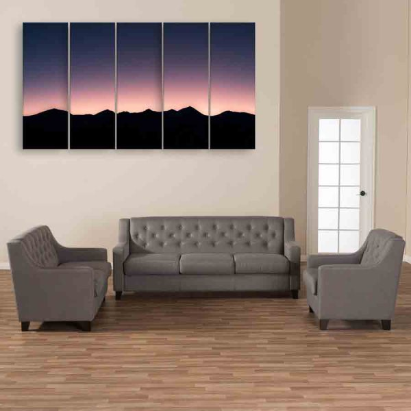 Multiple Frames Beautiful Sunset Wall Painting (150cm X 76cm)