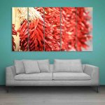 Multiple Frames Red Pepper Wall Painting (150cm X 76cm)
