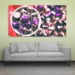 Multiple Frames Beautiful Chocolate Wall Painting (150cm X 76cm)