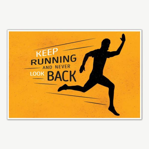 Keep Running Gym Quotes Poster Art   Gym Motivation Posters