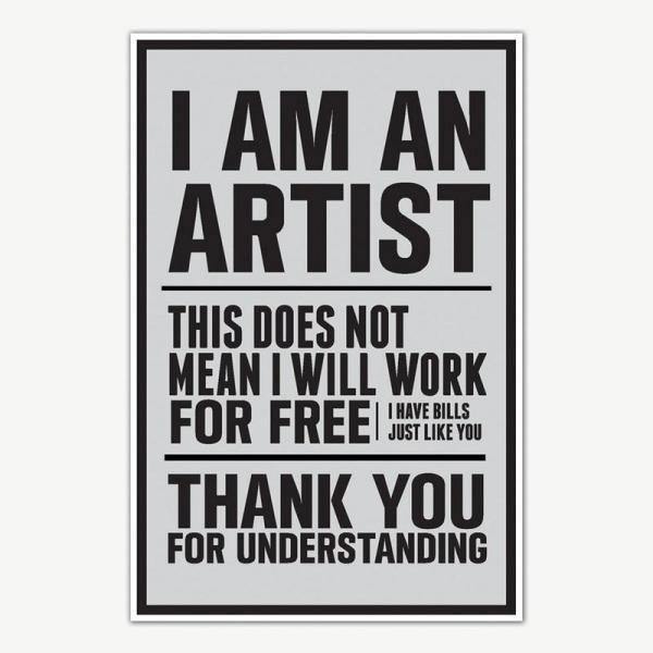 I am an Artist Quote Poster Art   Motivational Posters For Room