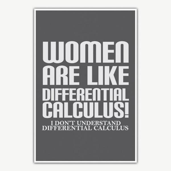 Women Are Like Calculus Poster   Funny Posters For Room