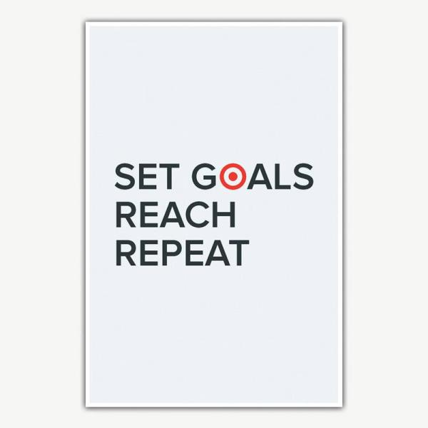 Set Goals Reach Repeat Poster   Motivational Posters For Offices
