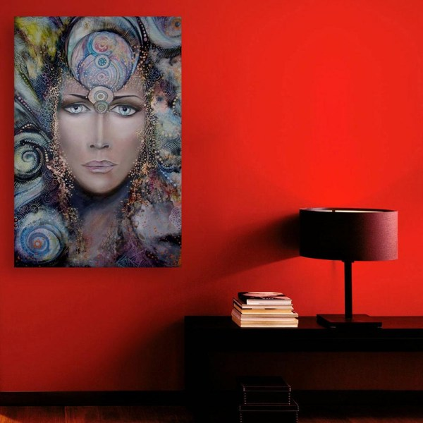 Canvas Painting - Beautiful Lady Modern Abstract Art Wall Painting for Living Room