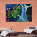 Canvas Painting - Beautiful Lady Tribal Art Wall Painting for Living Room
