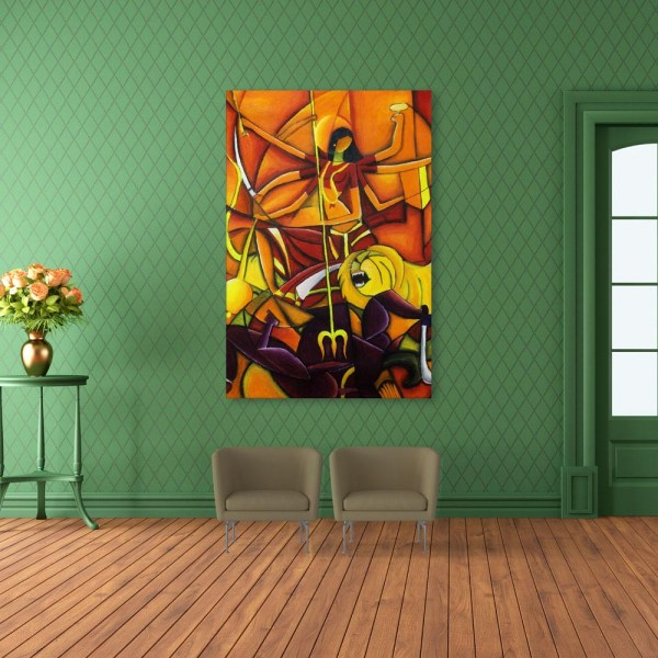 Canvas Painting - Indian Goddess Art Religious Wall Painting for Living Room