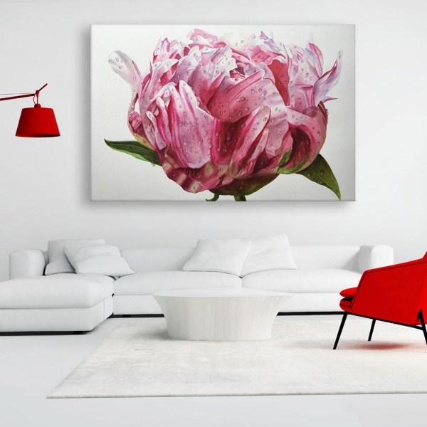 Canvas Painting - Beautiful Flower Floral Wall Painting for Living Room