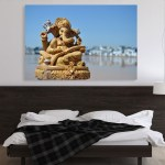 Canvas Painting - Beautiful Lord Ganesha Art Wall Painting for Living Room