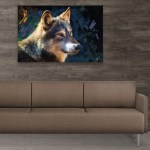 Canvas Painting - Beautiful Wolf Art Wall Painting for Living Room