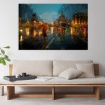 Canvas Painting - Beautiful Modern Cityscape Art Wall Painting for Living Room