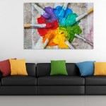 Canvas Painting - Beautiful Paint Brushes Art Wall Painting for Living Room