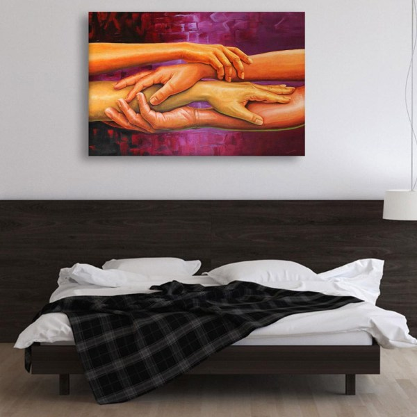 Canvas Painting - Beautiful Hands Art Wall Painting for Living Room