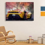 Canvas Painting - Beautiful Car  Art Wall Painting for Living Room