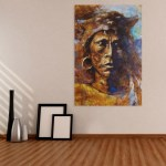 Canvas Painting - Beautiful Modern Lady Art Wall Painting for Living Room
