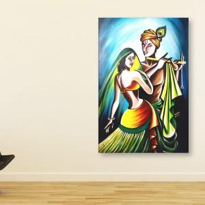 Canvas Painting - Beautiful Radha Krishna Art Wall Painting for Living Room