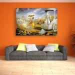 Canvas Painting - Beautiful Mahabharata Arjuna Art Wall Painting for Living Room