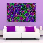 Canvas Painting - Beautiful Leaves Illustration Art Wall Painting for Living Room