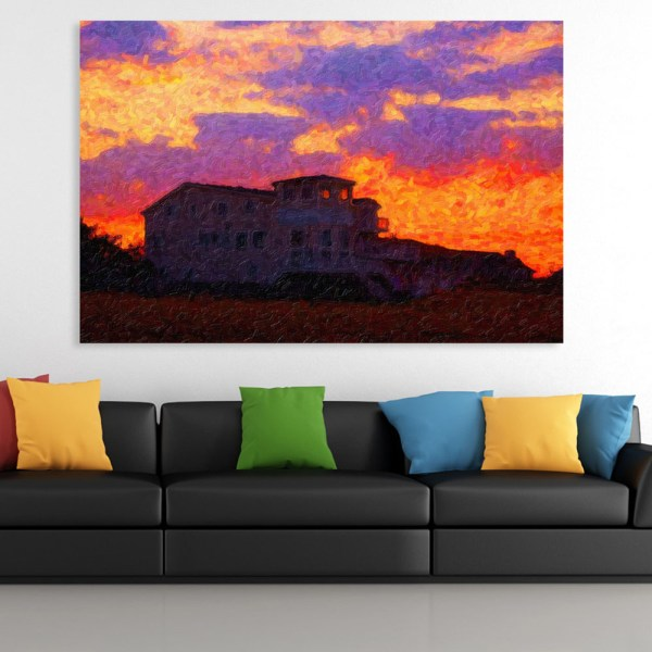 Canvas Painting - Beautiful Sunrise Illustration Art Wall Painting for Living Room