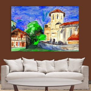 Canvas Painting – Beautiful City View Art Wall Painting for Living Room, Bedroom, Office, Hotels, Drawing Room (91cm X 61cm)